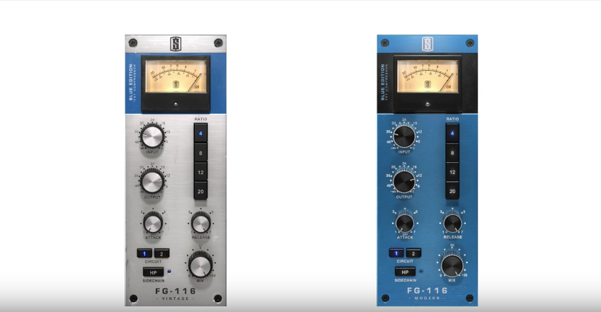 Introducing the FG-116 BLUE FET Compressors from Slate Digital