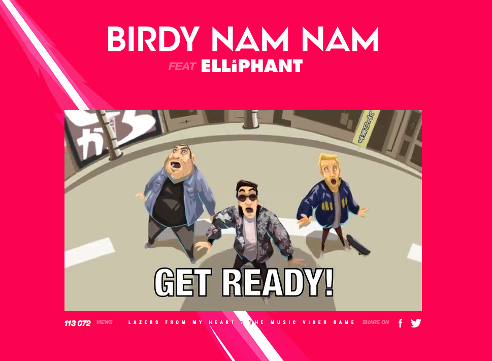 "BIRDY NAM NAM Feat. ELLIPHANT:  ""LAZERS FROM MY HEART"""
