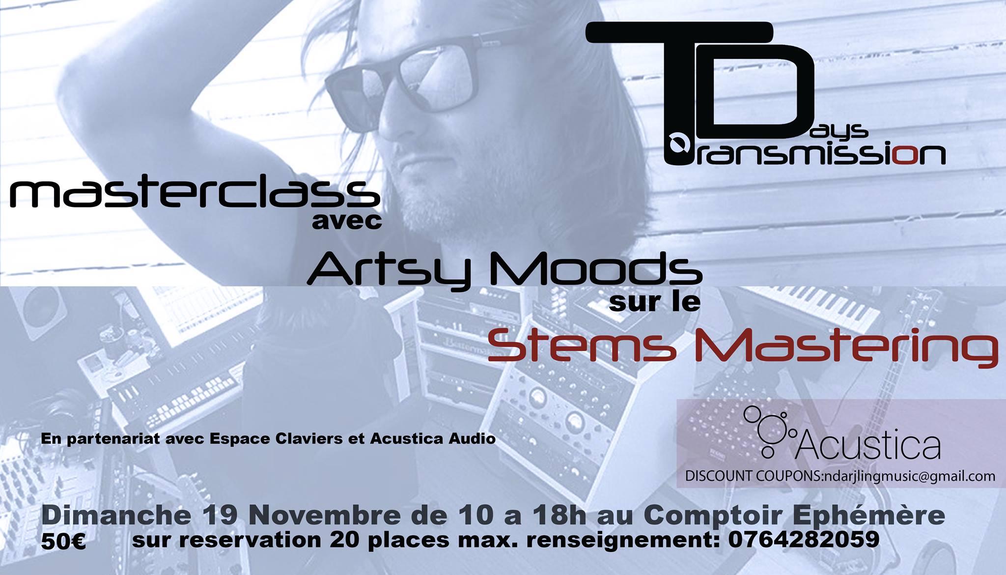 Masterclass sur le Stems Mastering en musique électronique au Comptoir Ephémère (Bordeaux) le dimanche 19!